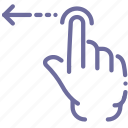 gesture, hand, swipe icon