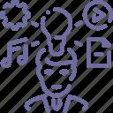author, creative, idea icon