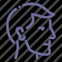 head, man, profile icon
