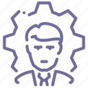 business, man, process icon