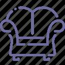 armchair, decorative, furniture, lounge icon
