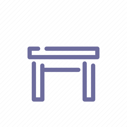 furniture, interior, stool, tabouret icon