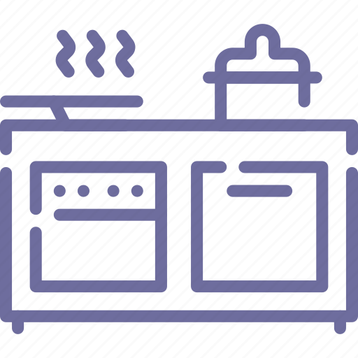 cooker, kitchen, oven, pan icon