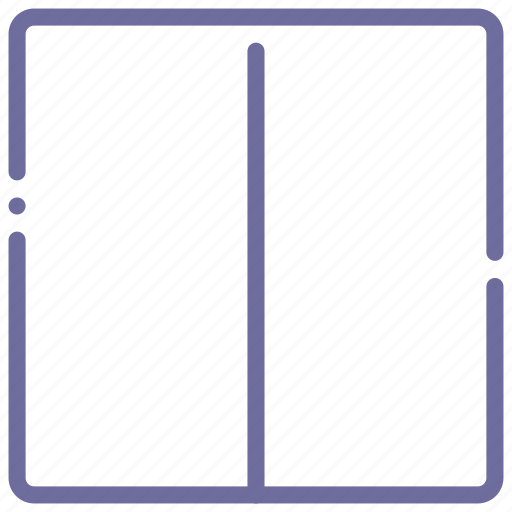 grid, layout, two, vertical icon
