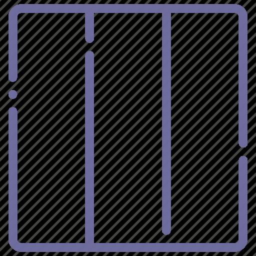 grid, layout, three, vertical icon