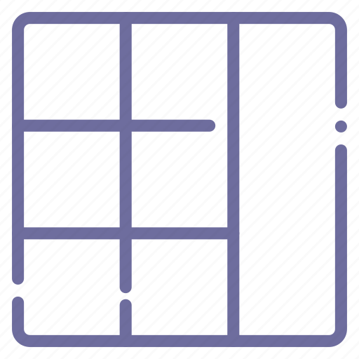 grid, layout, seven, stacked icon