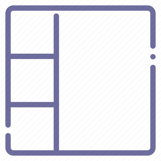 four, grid, layout, stacked icon