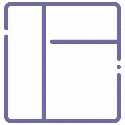 grid, layout, stacked, three icon