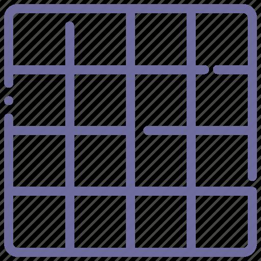 grid, layout, sixteen icon