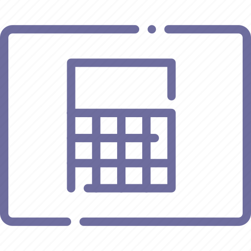 calculator, grid, interface, layout icon