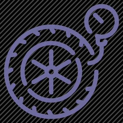 pressure, wheel icon