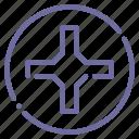 cross, screw icon