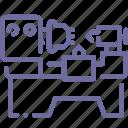 factory, lathe icon