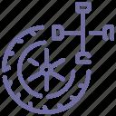 fitting, service, wheel icon