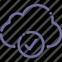check, cloud, data, storage icon