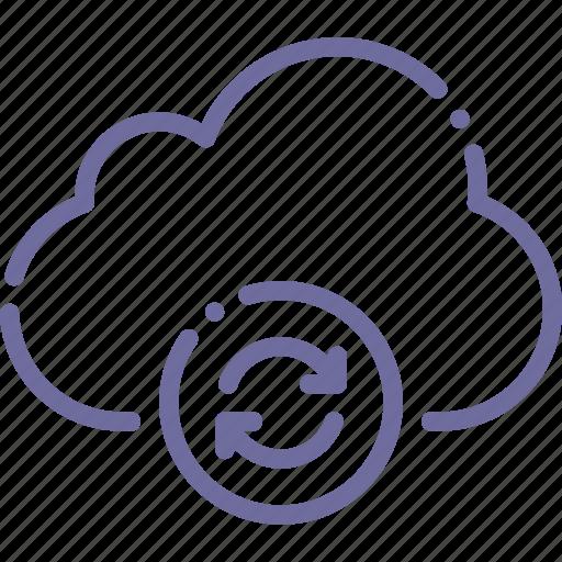 cloud, data, storage, sync icon
