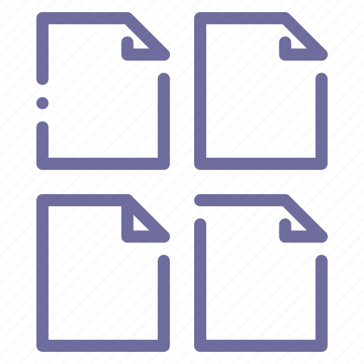 document, file, files, multiple icon