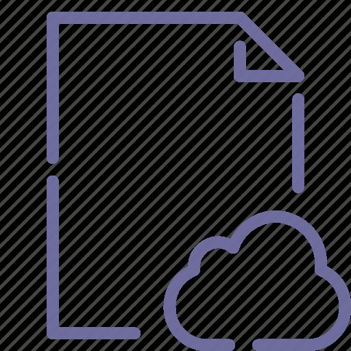 cloud, document, file, paper icon