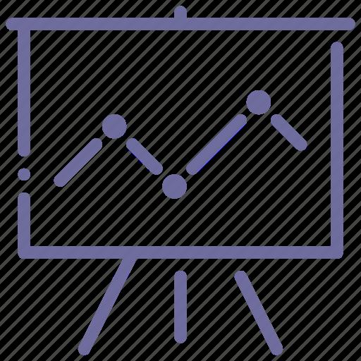 analytics, presentation, speech, statistics icon