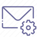 email, mail, message, settings icon