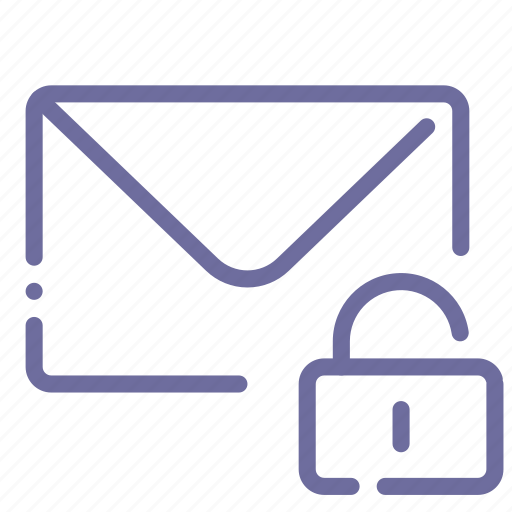 lock, mail, message, private icon