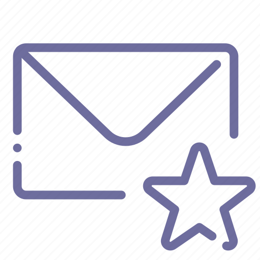 favorite, mail, marked, message icon