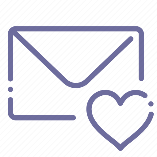 love, mail, marked, message icon