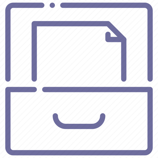archive, documents, drawer, file icon