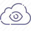 bidata, bigbrother, cloud, eye icon