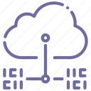 cloud, data, internet, transfer icon