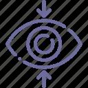 decrease, eye, sight, view icon