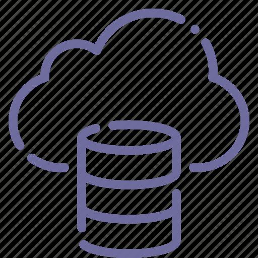 cloud, database, hosting, storage icon