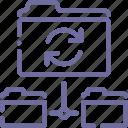 backup, data, folder, sync icon