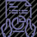analytics, hands, report, statistics icon