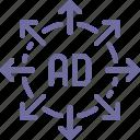 advertisement, advertising, marketing, strategy icon