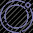 equator, moon, orbit, satellite icon