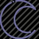 crescent, month, moon, night icon
