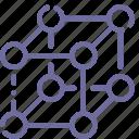 lattice, molecular, molecules, physics icon
