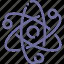 corpuscle, energy, atom, nuclear icon