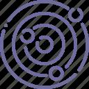 galaxy, planets, solar, system icon