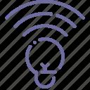 color, idea, lamp, wifi icon