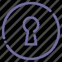 key, keyhole, password, security icon