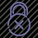 denied, lock, padlock, security icon
