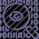search, encryption, data, eye