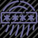 biometric, fingerprint, password, security icon
