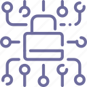 data, lock, locked, protection icon