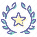 award, badge, favorite, star icon