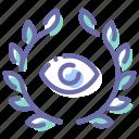 badge, award, eye, spy