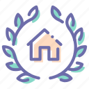 badge, home, award, house