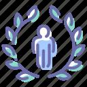 award, badge, human, man
